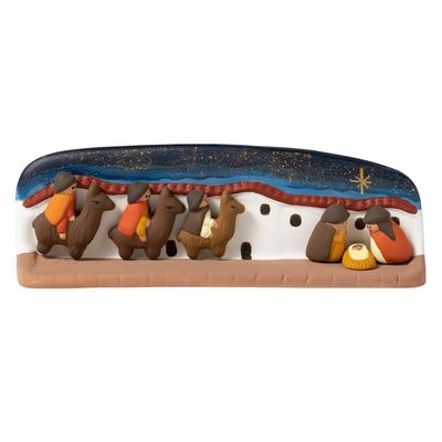Ten Thousand Villages Wisemen Llama Ceramic Nativity