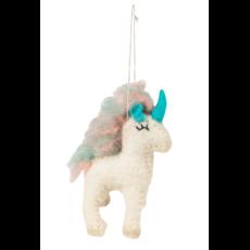 Ten Thousand Villages Unicorn Felted Wool Ornament