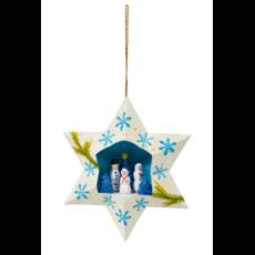 Ten Thousand Villages Snowpeople Retablo Star Ornament