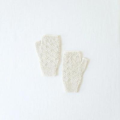 Andes Gifts Pacha Alpaca & Cotton Wrist Warmers: Cream