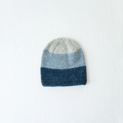 Andes Gifts Tres Alpaca Knit Hat: Blue