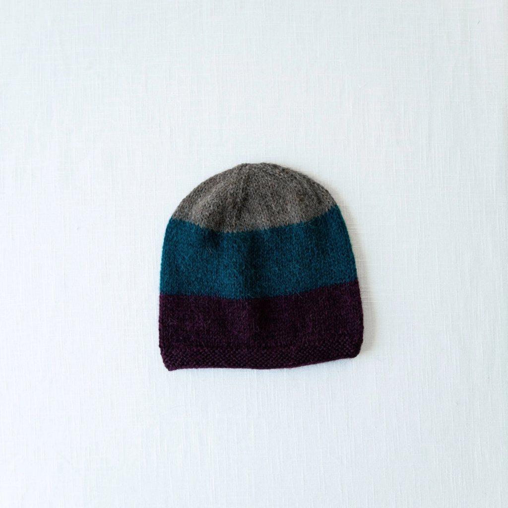 Andes Gifts Tres Alpaca Knit Hat: Teal