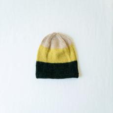 Andes Gifts Tres Alpaca Knit Hat: Lemon