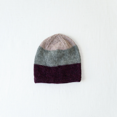 Andes Gifts Tres Alpaca Knit Hat: Wine