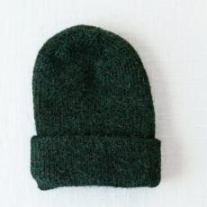 Andes Gifts Milkshake Alpaca Knit Hat: Forest