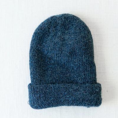 Andes Gifts Milkshake Alpaca Knit Hat: Steel