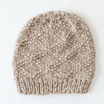 Andes Gifts Pacha Alpaca & Cotton Knit Hat: Almond