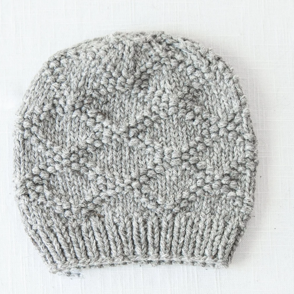 Andes Gifts Pacha Alpaca & Cotton Knit Hat: Grey