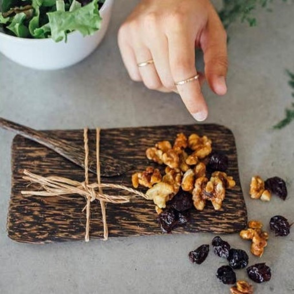 Ten Thousand Villages Palm Wood Serving Dish