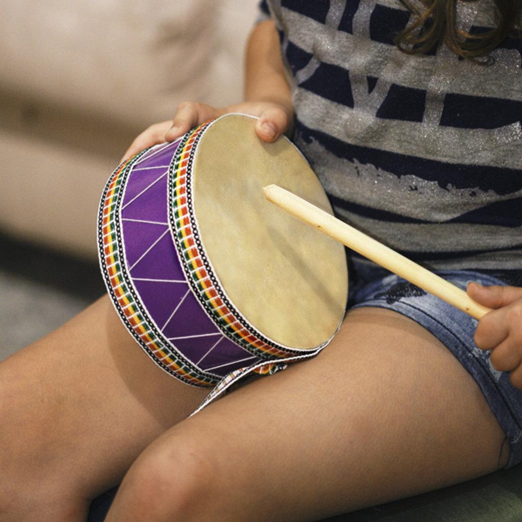 Minga Imports Drum with Striker: Medium