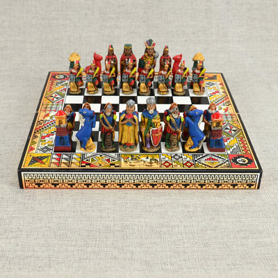 Minga Imports Peruvian Travel Chess Set