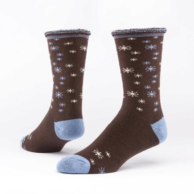 Maggie's Organics Snowy Roast Merino Wool Snuggle Socks