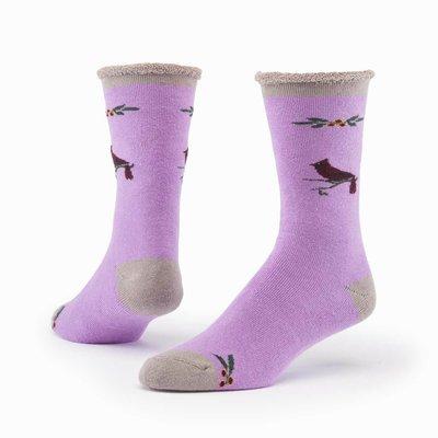 Maggie's Organics Cardinal Rose Merino Wool Snuggle Socks
