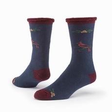Maggie's Organics Cardinal  Blue Merino Wool Snuggle Socks