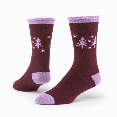 Maggie's Organics Forest Wine Merino Wool Snuggle Socks