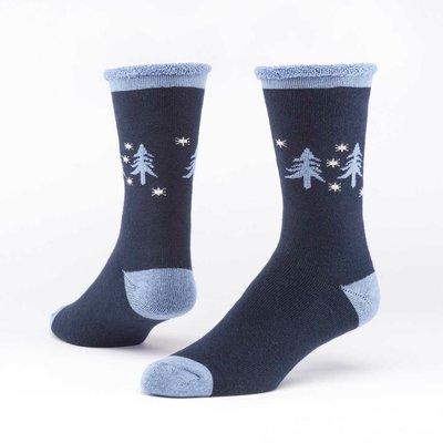 Maggie's Organics Forest Navy Merino Wool Snuggle Socks