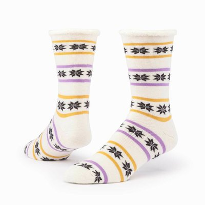 Maggie's Organics Poinsettia Natural Merino Wool Snuggle Socks