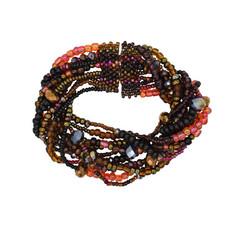 Unique Batik Rico 10-Strand Seed & Crystal Bracelet