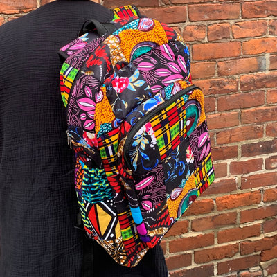 Creation Hive Kitenge Patchwork Backpack