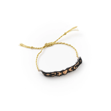 Matr Boomie Adiya Lunar Dark Woven Bead Bracelet
