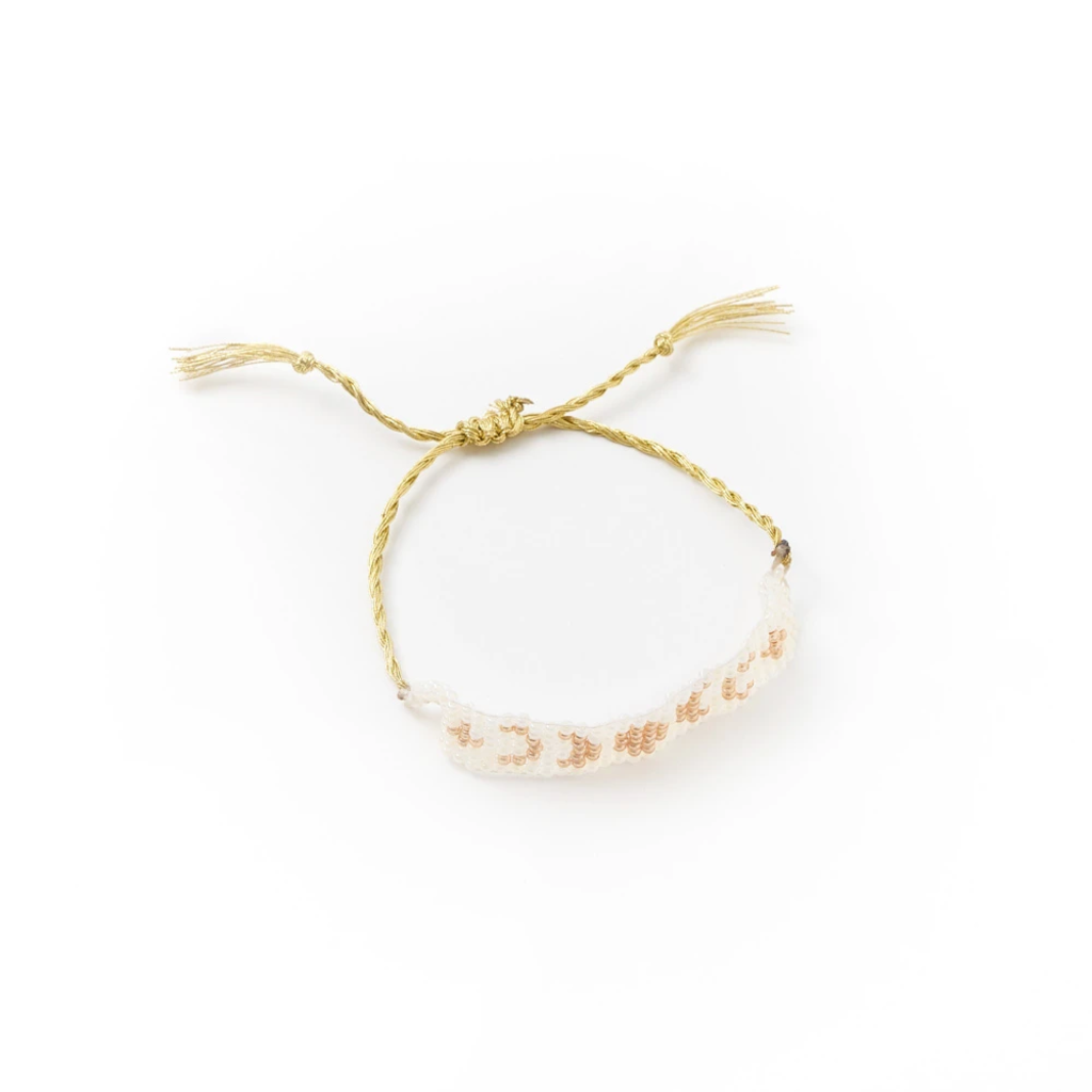 Matr Boomie Adiya Lunar Light Woven Bead Bracelet