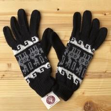 Minga Imports Alpaca Blend Incan Gloves Black