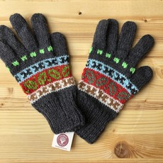 Minga Imports Fleur Alpaca Blend Gloves Charcoal