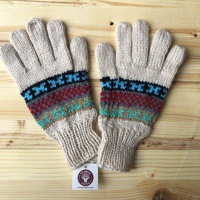 Minga Imports Fleur Alpaca Blend Gloves Oatmeal
