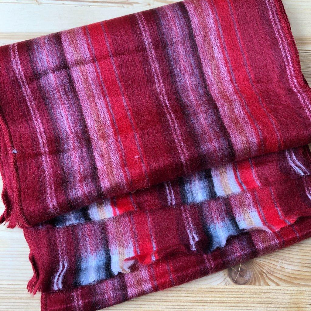 Minga Imports Cozy Acrylic Flat Scarf Red
