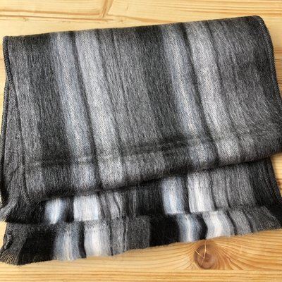 Minga Imports Cozy Acrylic Flat Scarf Black