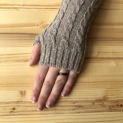 Minga Imports Gelid Blended Arm Warmers Oatmeal