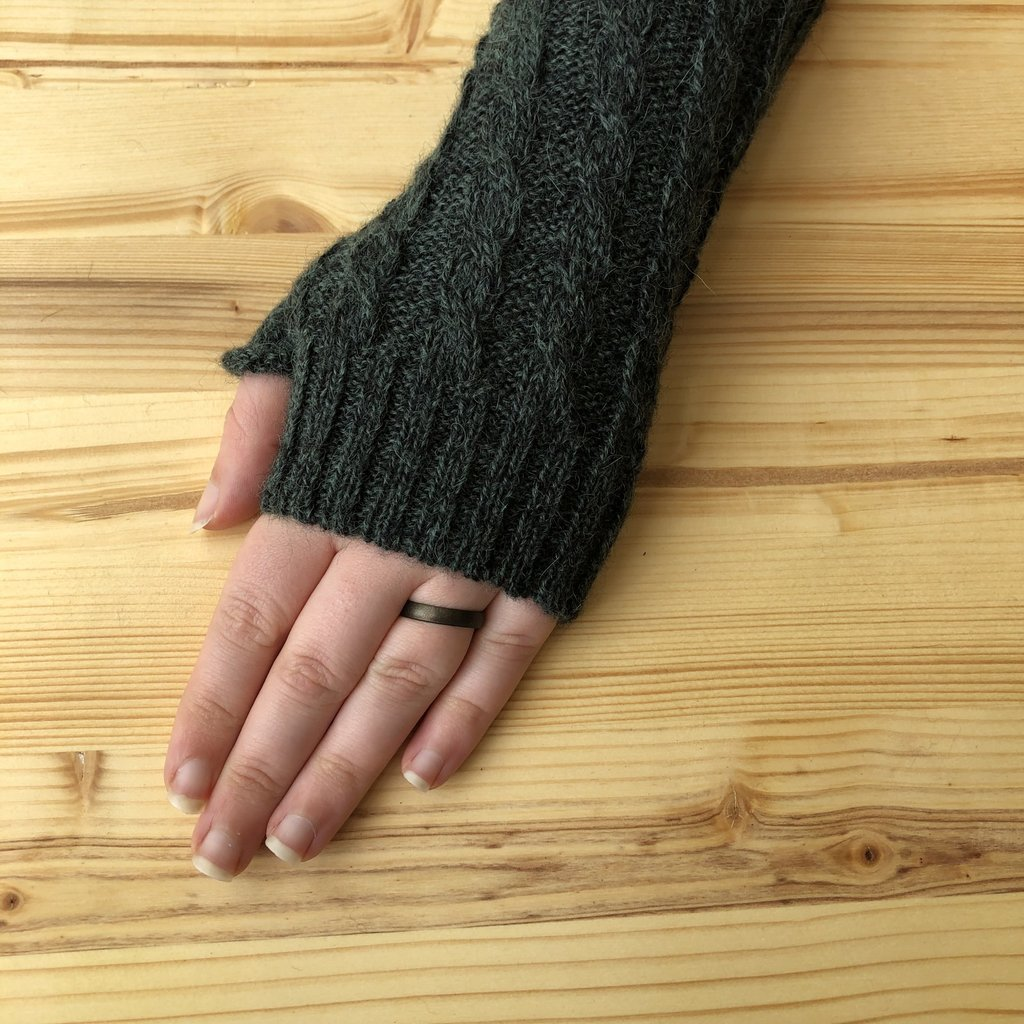Minga Imports Gelid Blended Arm Warmers Green