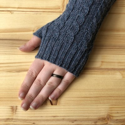 Minga Imports Gelid Blended Arm Warmers Blue