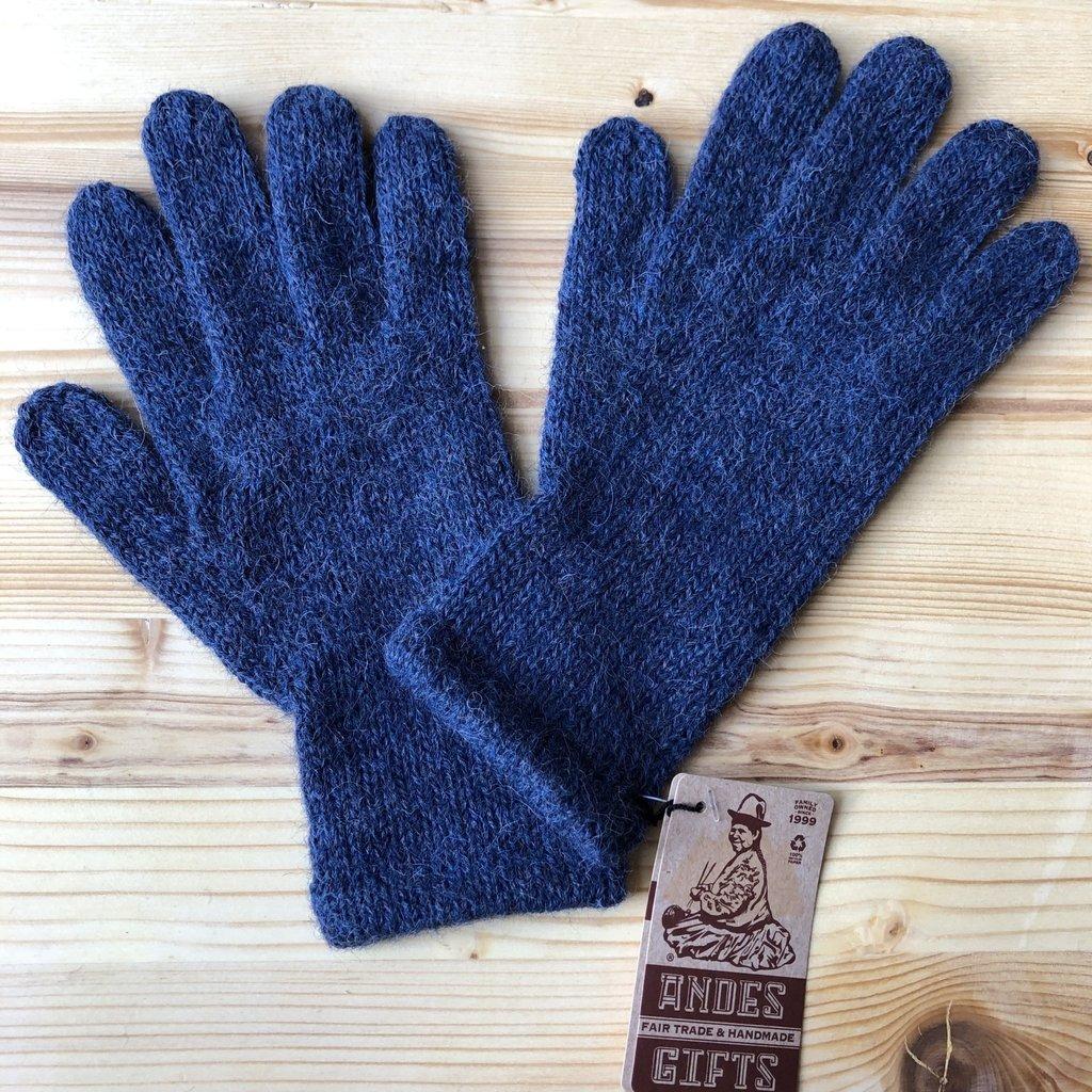Andes Gifts Milkshake Alpaca Gloves: Steel