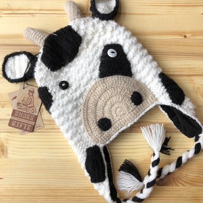 Andes Gifts Adult Animal Hat: Cow
