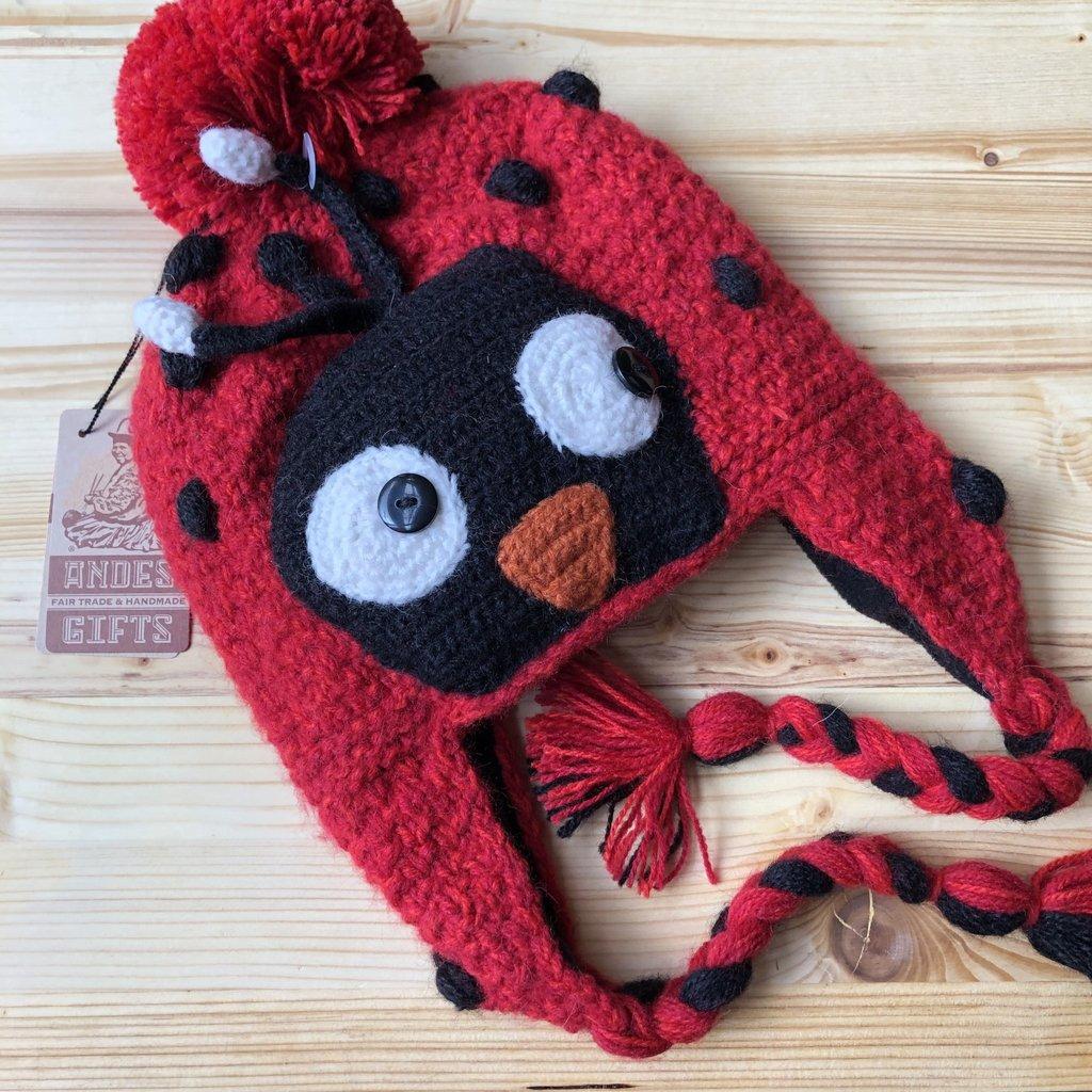Andes Gifts Adult Animal Hat: Ladybug