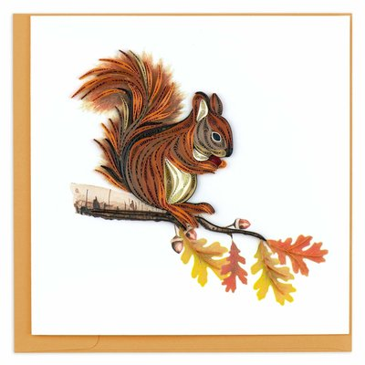Quilling Card Squirrel Quilled Card