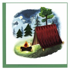 Quilling Card Camping Ground Quilled Card
