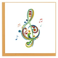 Quilling Card Treble Clef Quilled Card