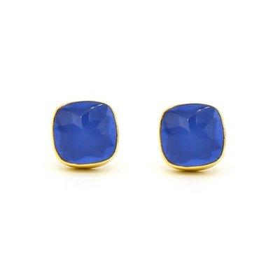 Fair Anita Boxy Blue Square Stud Earrings