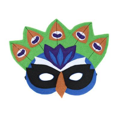 Minga Imports Felt Play Mask Peacock