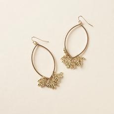 Matr Boomie Jaya Hoop Bead Fringe Earrings