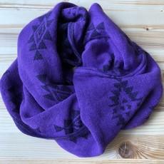 Minga Imports Vision Incan Acrylic Infinity Scarf Purple