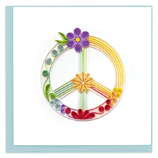 Quilling Card Peace Sign Quilled Card