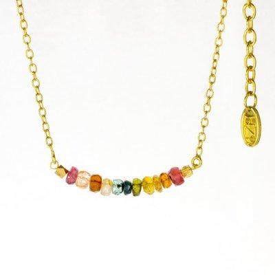 DZI Handmade Rainbow Bar Necklace