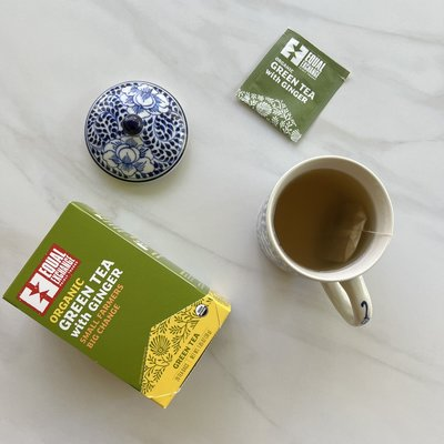 Equal Exchange Organic Green with Ginger Tea 20pc Box