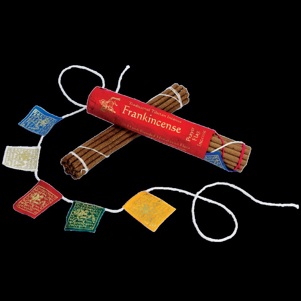 DZI Handmade Frankincense Tibetan Incense with Prayer Flags