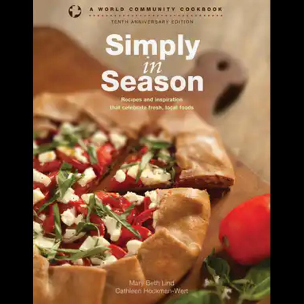 Menno Media Cookbook Simply in Season 10th Anniversary