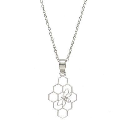 Serrv Beehive Silver-plated Necklace