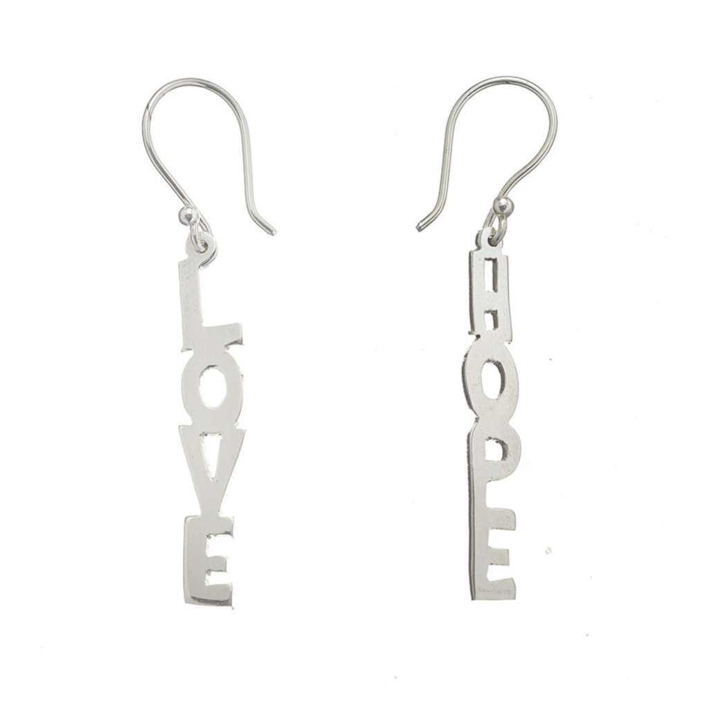 Serrv Hope & Love Silver-plated Earrings